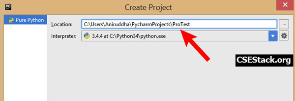 Set Python project name