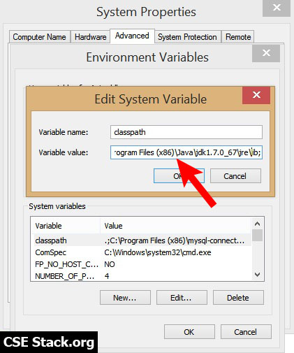 set classpath environment variable