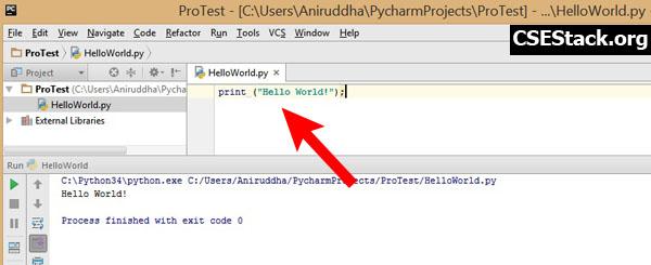 write hello world python program