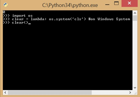 Clear Python Interpreter Console