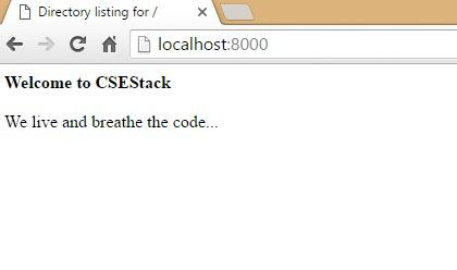 Python server as HTTP Server