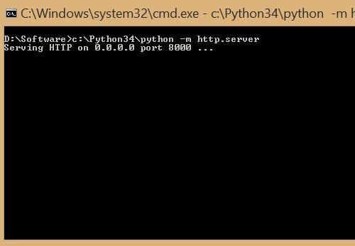 Command to Run Simple Python HTTP Server