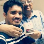 Aniruddha Chaudhari presented CSEStack goodies to Srinivasan Sundarrajan