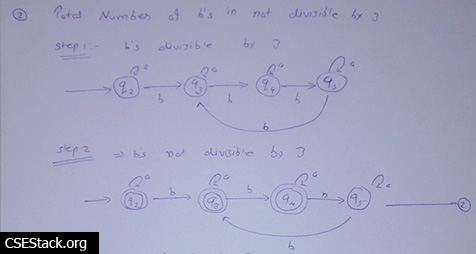 construct DFA for string with total number of b's is divisible by 3