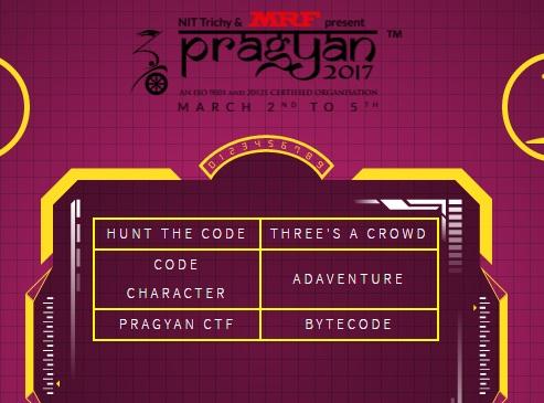 NIT Trichy Presents Pragyan Coding Event