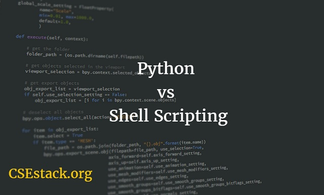 Python or shell scripting
