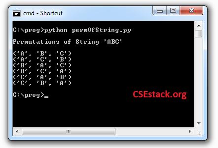 permutations of string in Python