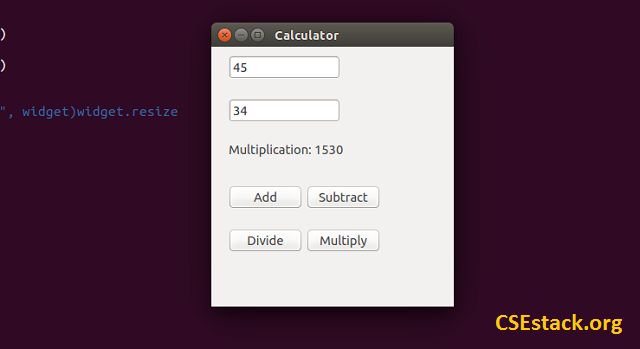 GUI Calculator in Python output