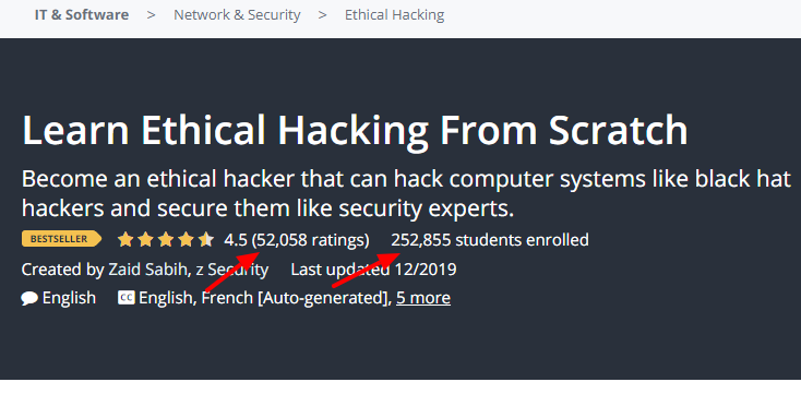 Learn Ethical Hacking Udemy Course