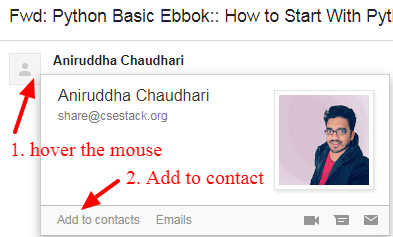 add csestack email subscription to your contact