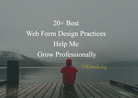 Web Form Design Practices