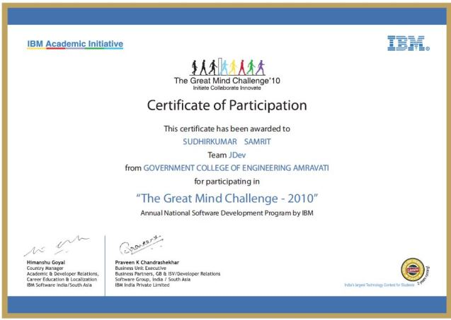 samrit Patient Billing Software tgmc certificate