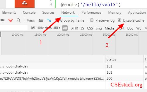 disable Chrome cache for web development
