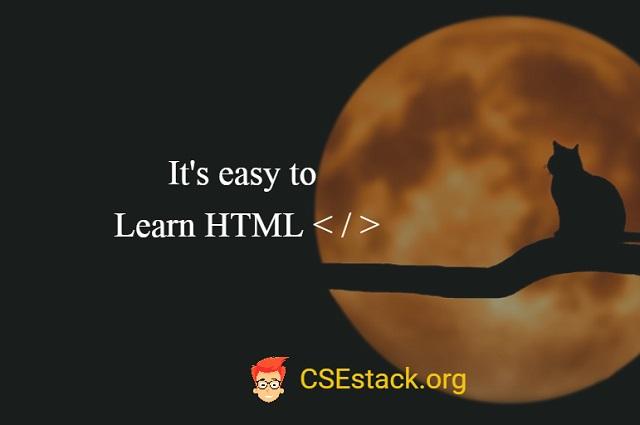 learn basic HTML tags