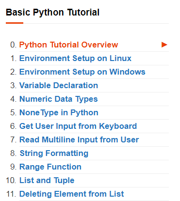 Best Python Programming Tutorial content