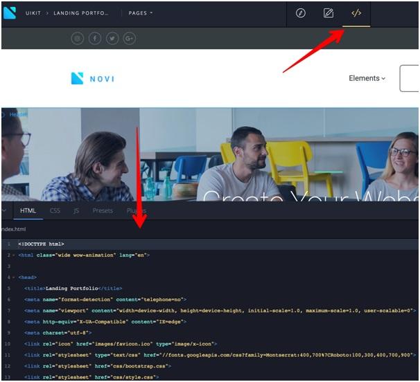 Novi code editor