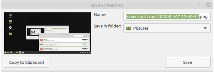 How to take a screenshot using a built-in tool in Linux
