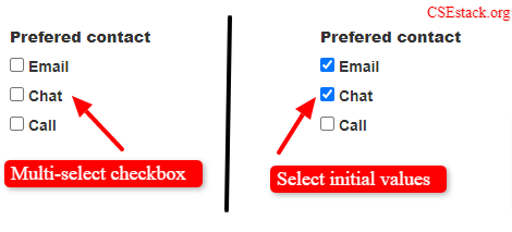 multi select checkbox in Django with default initial values
